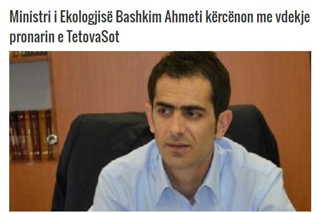Осуда на заканите на министерот Ахмети врз новинарот Мислими