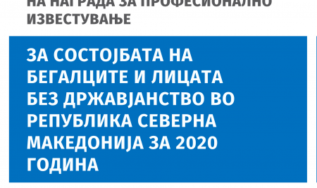 ЈАВЕН ПОВИК за доделување на награда за професионално известување за состојбата на бегалците и лицата без државјанство во РСМ за 2020 година
